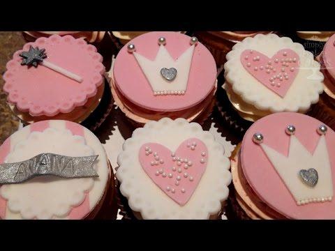 Princess cupcakes - TUTORIAL
