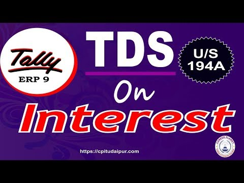 TDS on Interest Entry in Tally ERP 9 Part-121| Learn Tally Accounting