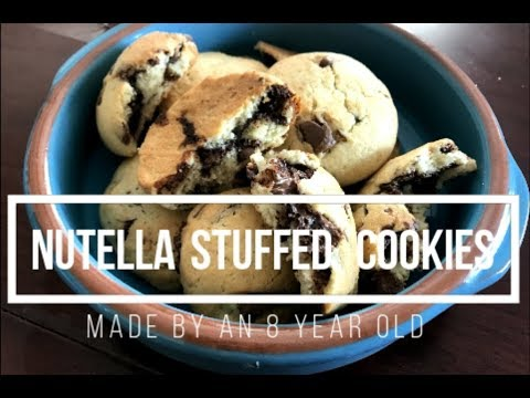 8 Year Old Makes Nutella Stuffed Cookies