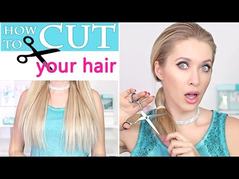 How to cut you own hair ✄ Trim split ends ✄ Straight or layered