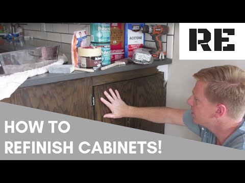 DIY REFINISHING CABINETS with gel stain