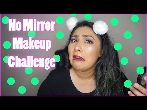 No Mirror Makeup Challenge|Collab
