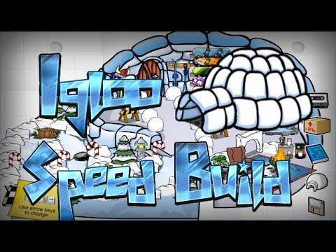 Igloo Speed Build! Club Penguin Rewritten