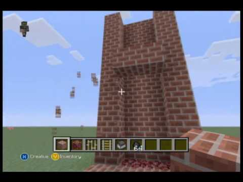 Minecraft Xbox: Fire Place with Smoking Chimney