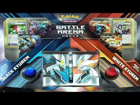 AWESOME NEW BLACK KYUREM EX & WHITE KYUREM EX POKEMON BATTLE ARENA DECKS!