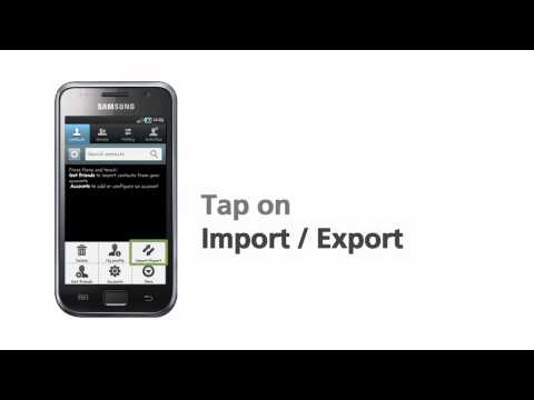 Samsung Galaxy S Import SIM Contacts Setup Guide