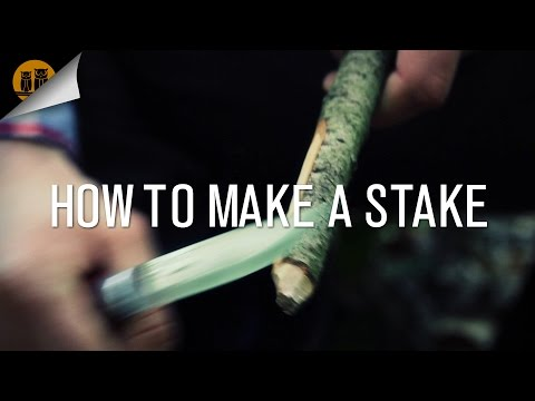 How To Make A Stake from Wood