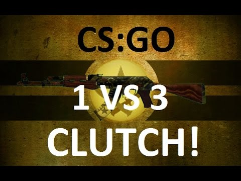 CS:GO: 1vs3 Clutch  (Ridiculous AK Spray)