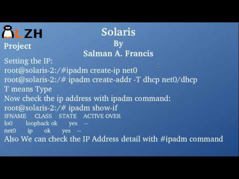 Solaris Netoworking Basics (Solaris 11 Part II)