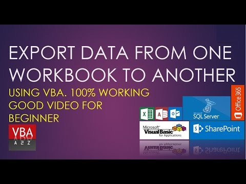 Copy or Export data from one workbook to another