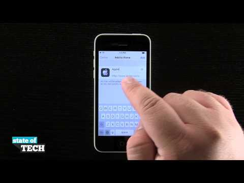 iPhone 5C Quick Tips - Add a URL Shortcut to the Home Screen