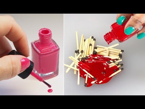 UNBELIEVABLE NAIL POLISH HACKS Everyone Should Know