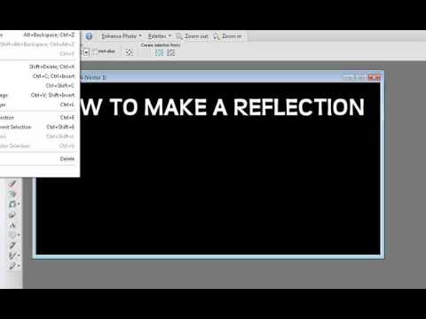 how to make a reflections in paint shop pro
