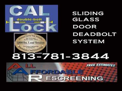 Need a New Screen? How about a lock for your glass door