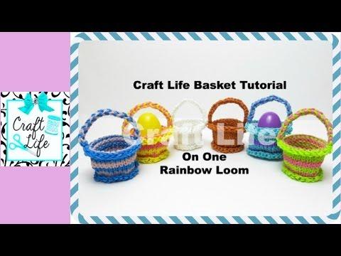Craft Life Basket Tutorial On One Rainbow Loom
