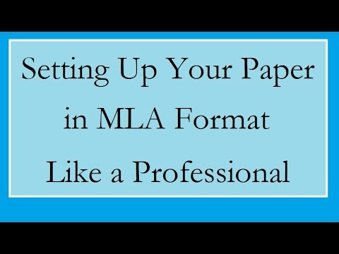 Set up a Paper in MLA format in Word 2013