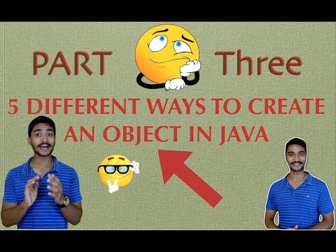 DIFFERENT ways to create an OBJECT in JAVA    Part 3    Using Constructor.newInstance()