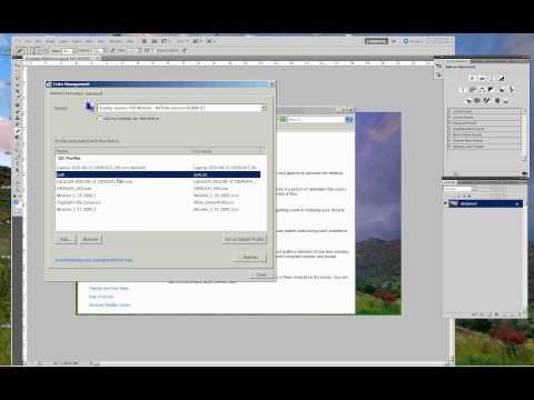 Using Monitor Profiles on a Windows PC