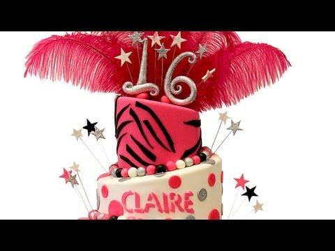 Claire's Zebra Print Sweet Sixteen Cake