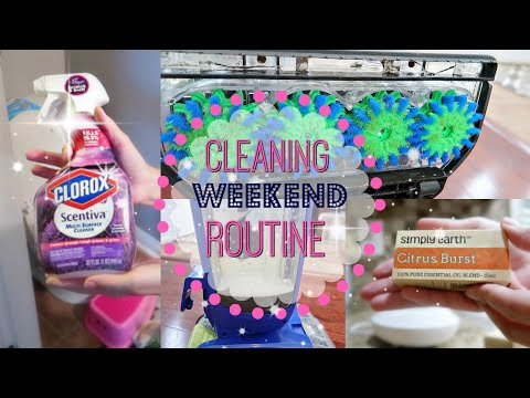 Weekend Cleaning Routine//CLEANING MOTIVATION//How I Clean My Hardwood Floors
