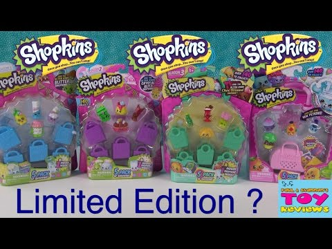 Shopkins Limited Edition FOUND Season 1 2 3 4 Unboxing Opening