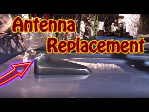 DIY How to Replace a Broken Roof Mounted Antenna and Base on a Chevy Equinox GMC Acadia Sirius Radio