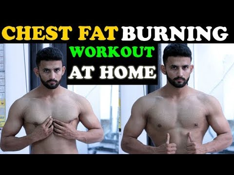 CHEST FAT BURNING WORKOUT AT HOME - FAST CHEST FAT REDUCE  | How To Lose Chest Fat At HOME Fast