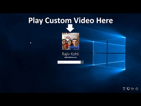 How to Play A Video on Windows Lock Screen Profile Picture | The Teacher