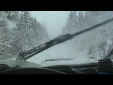 A wild woman=wild ride down an unplowed road w/ deep snow & hills in a 4x4 truck