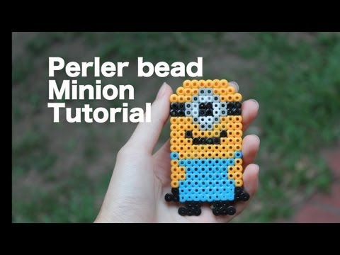 Perler bead minion tutorial