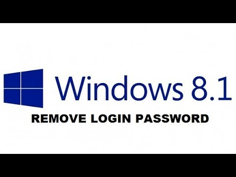 Windows 8.1: Remove Login Password