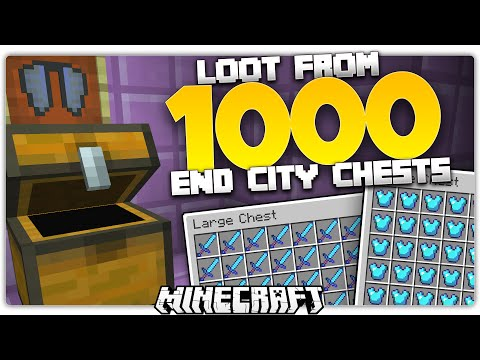 Loot From 1000 End City Dungeon Chests in Minecraft
