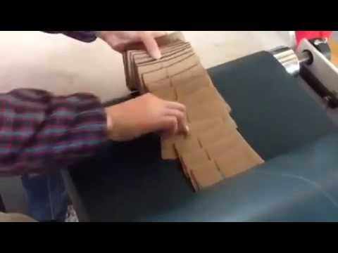 Coffee cup ripple corrugated sleeve gluing machine
