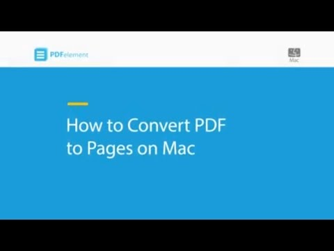How to Convert PDF to Pages on Mac