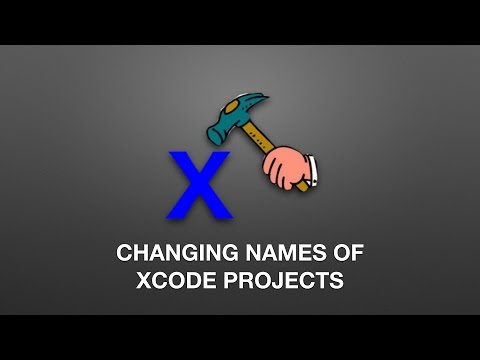 How to Change Name of your Xcode Project
