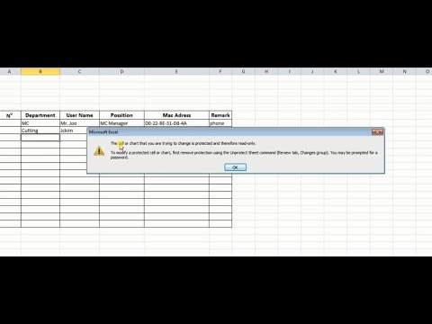 How to Unprotect an excel sheet without password