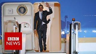 President Obama arrives in London - BBC News