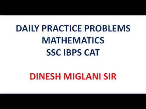 PRACTICE QUESTIONS OF MATHS FOR SSC IBPS CAT IN ENGLISH HINDI MEDIUM