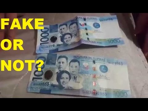 How to detect Fake Money | TAGALOG