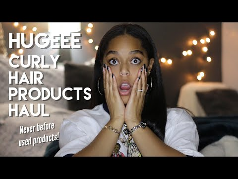 HUGEEE HAIR PRODUCTS HAUL [NEVER BEFORE USED PRODUCTS!] | Danielle Renée