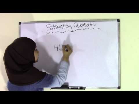 5th Grade Math Estimating Quotients