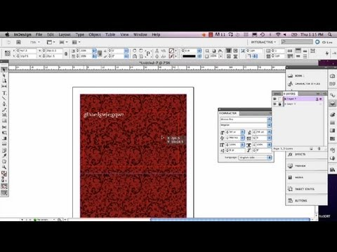 Setting a Background in Indesign : InDesign Tutorials