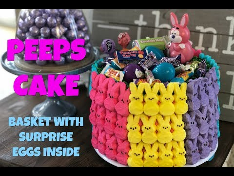 PEEPS Easter Basket Cake With Surprise Eggs Inside I Food l How to Cook Craft & Kids