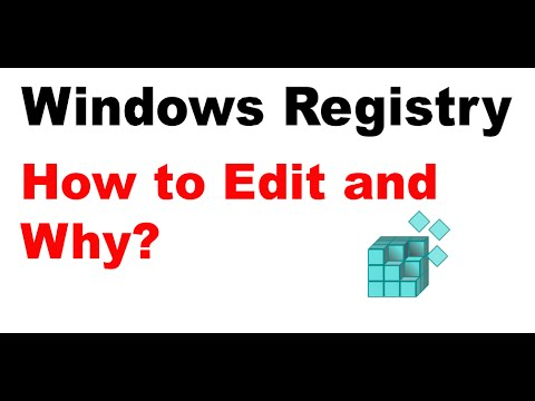 What is registry editor and how to edit registry file
