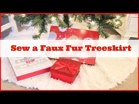 How to sew a faux fur treeskirt
