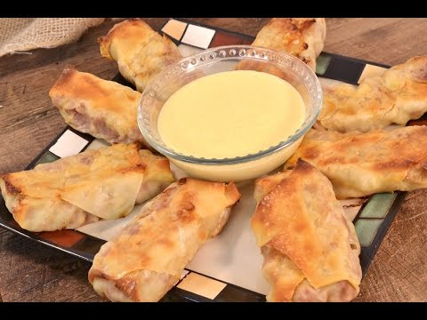 Corned Beef Egg Rolls with Beer Cheese Sauce  | RadaCutlery.com