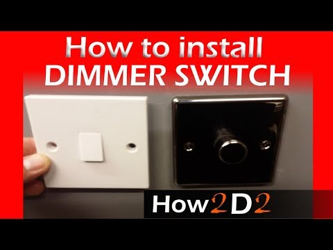 How to wire dimmer switch Replacing one way switch with dimmer one