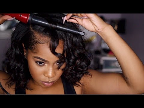 GRWM | How To: Curly Bob on Natural Hair + Simple Red Lip Makeup Look! | Dana Alexia