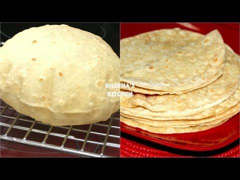 Homemade Soft Fluffy Roti / Chapati / Phulka Video Recipe   Bhavna's Kitchen