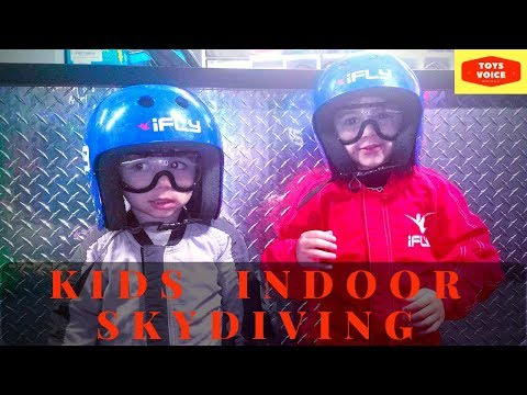 Kids Indoor Skydiving! Youngest iFly Skydiver | Toys Voice